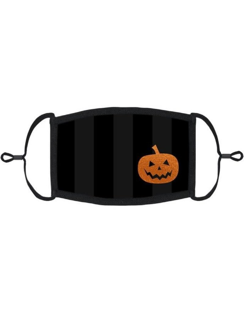 Adjustable Coronavirus Halloween Mask: Halloween Pumpkin (1pk.)