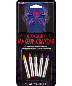 Fun World Costumes Fluorescent Makeup Crayons - Multicolor