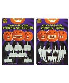 Fun World Costumes Glow-In-The-Dark Pumpkin Teeth