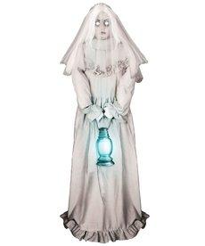 "Fun World Costumes 60"" Ghostly Lady Halloween Animatronic"