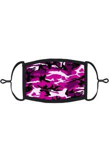 Adjustable Fabric Face Mask: Pink Camo