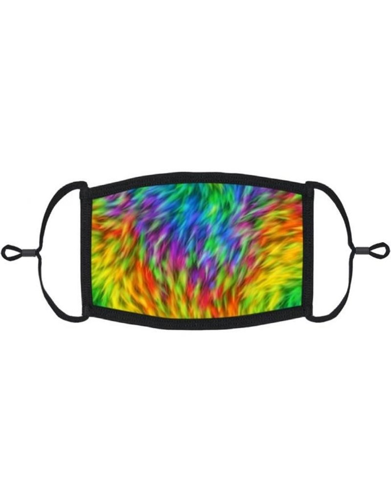 Adjustable Fabric Face Mask: Neon Tie Dye
