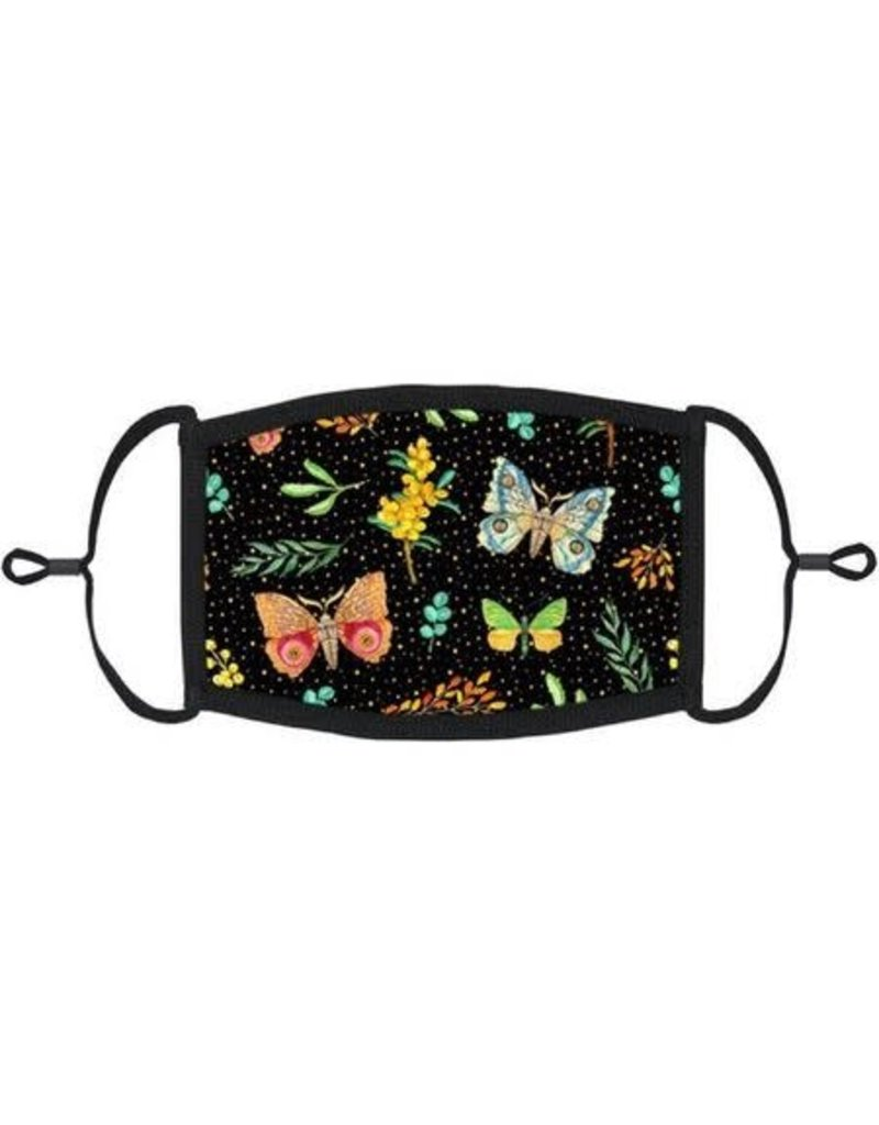 Adjustable Fabric Face Mask: Fall Butterflies
