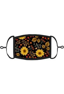 Adjustable Fabric Face Mask: Fall Floral