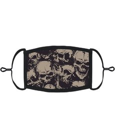 Adjustable Fabric Face Mask: Skulls