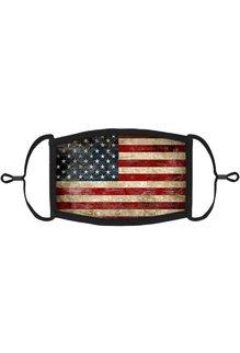Adjustable Fabric Face Mask: Vintage Flag
