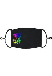 Adjustable Fabric Face Mask: Love Is Love (1 pk.)