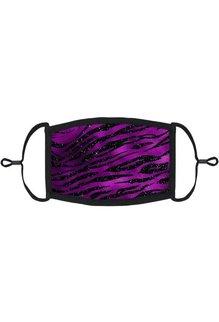 Adjustable Fabric Face Mask: Purple Animal Print (1pk.)
