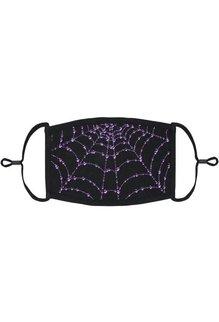 Adjustable Fabric Face Mask: Purple Spiderweb (1pk.)