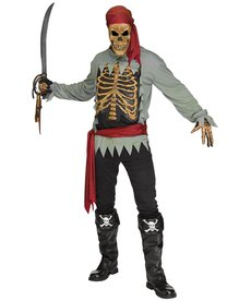 Fun World Costumes Skeleton Pirate - Standard Size