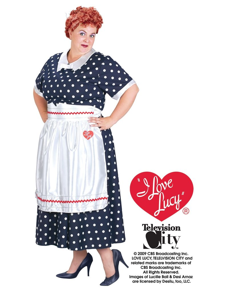 Fun World Costumes Classic Polka Dot Dress (I Love Lucy) - Plus