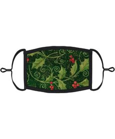 Adjustable Christmas Face Mask: Holly