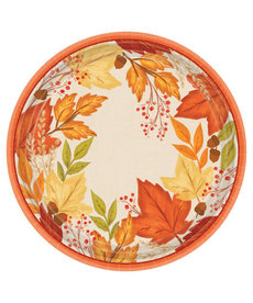 "10 1/2"" Round Plates: Fall Foliage (8ct.)"