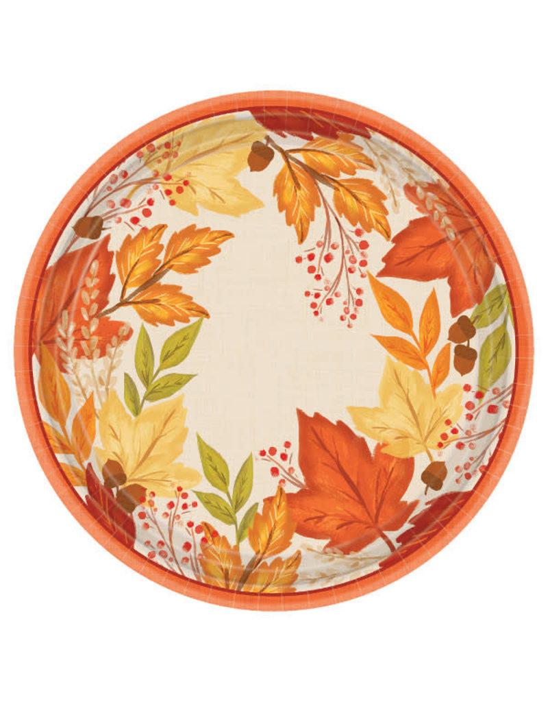 "10 1/2"" Round Plates: Fall Foliage (8ct.)"