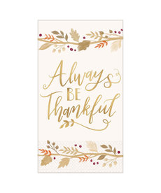 Guest Towel - Always Be Thankful