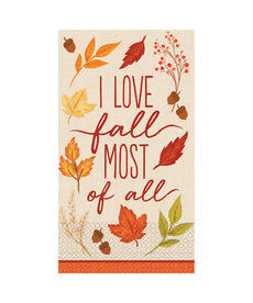 Guest Towel: Fall Foliage (16ct.)