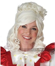 California Costumes Mrs Claus Wig and Bun Clip