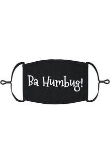 Adjustable Christmas Face Mask: Ba Humbug
