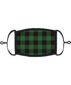 Adjustable Face Mask: Green Buffalo Plaid (1pk.)
