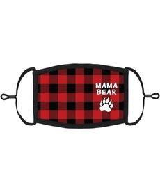 "Adjustable Christmas Face Mask: ""Mama Bear"""