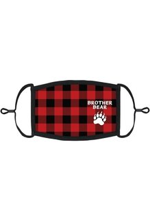 "Youth Adjustable Christmas Face Mask: ""Brother Bear"" (1 pk.)"