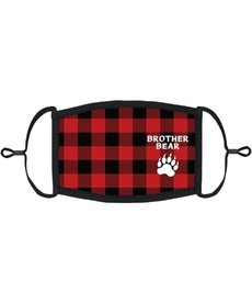 "Youth Adjustable Christmas Face Mask: ""Brother Bear"""