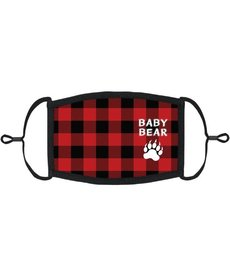 "Kids Adjustable Christmas Face Mask: ""Baby Bear"""