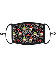 """Youth Adjustable Christmas Face Mask: Snowman """"Let it Snow"""""""