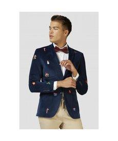 Navy Christmas Icons Jacket