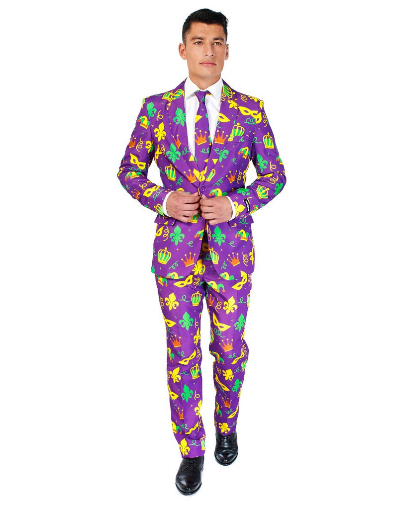 Mardi Gras Icons Suit (Purple)