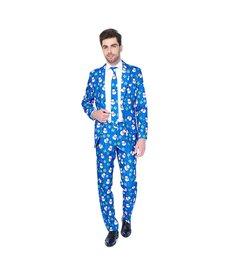 Blue Christmas Snowman Suit