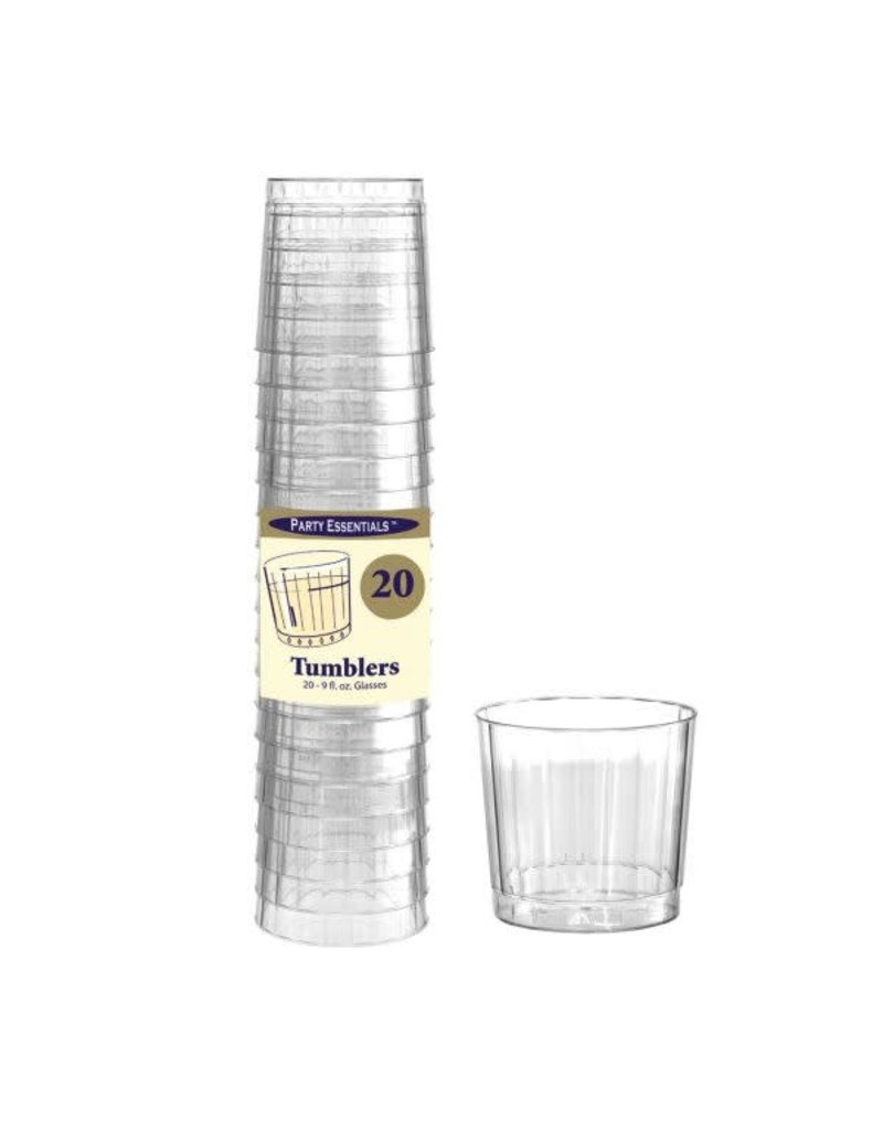 9oz. Elegance/Deluxe Tumblers: Clear (20ct.)