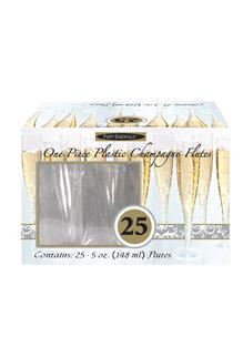 5oz. Champagne Flutes: Clear (Box Set 25ct.)