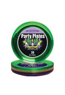 "9"" Party Plates: Mardi Gras (20ct.)"