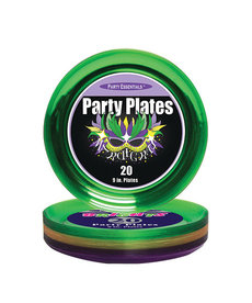 "9"" Party Plates: Mardi Gras (20ct.)"