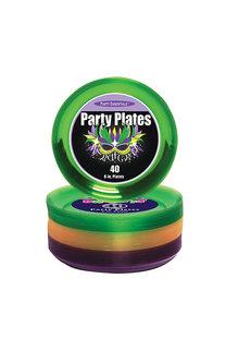 "6"" Party Plates: Mardi Gras (40ct.)"