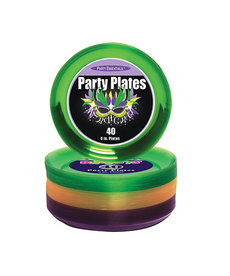 "6"" Party Plates: Mardi Gras (40ct.)"