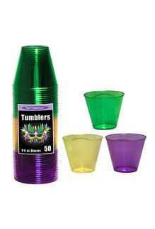 9oz. Tumblers: Mardi Gras (50ct.)