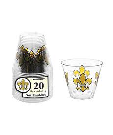 9oz. Tumblers: Fleur De Lis (20ct.)