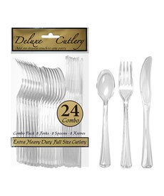 Combo Cultery: Clear (24ct.)