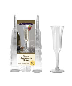 6oz. Deluxe Champagne Flutes: Clear (10ct.)
