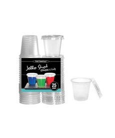 2oz. Jello Shot Glasses w/ Lids: Clear (25ct.)
