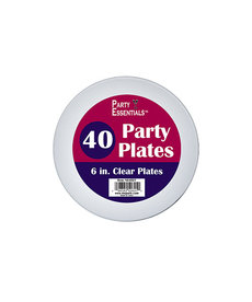 "6"" Party Plates: Clear (40ct.)"