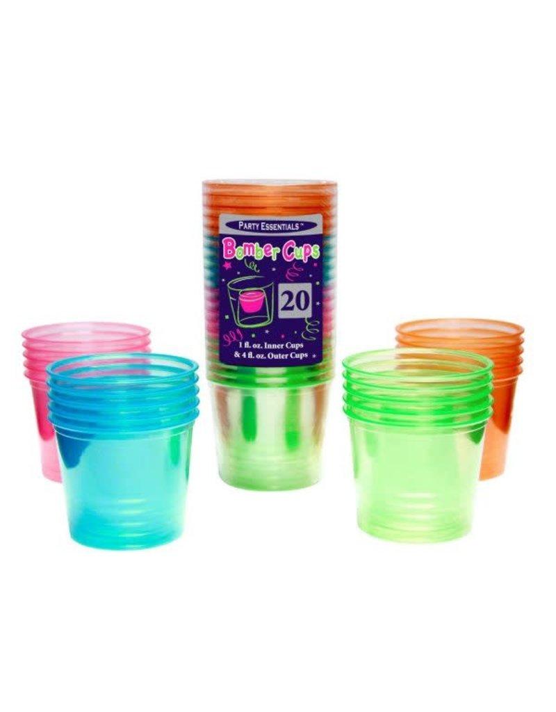 4oz. Bomber Cups: Neon Asst. (20ct.)