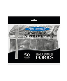 Plastic Forks: Silver (50ct.)