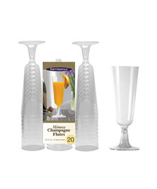 Mimosa Flutes: Clear (20ct.)
