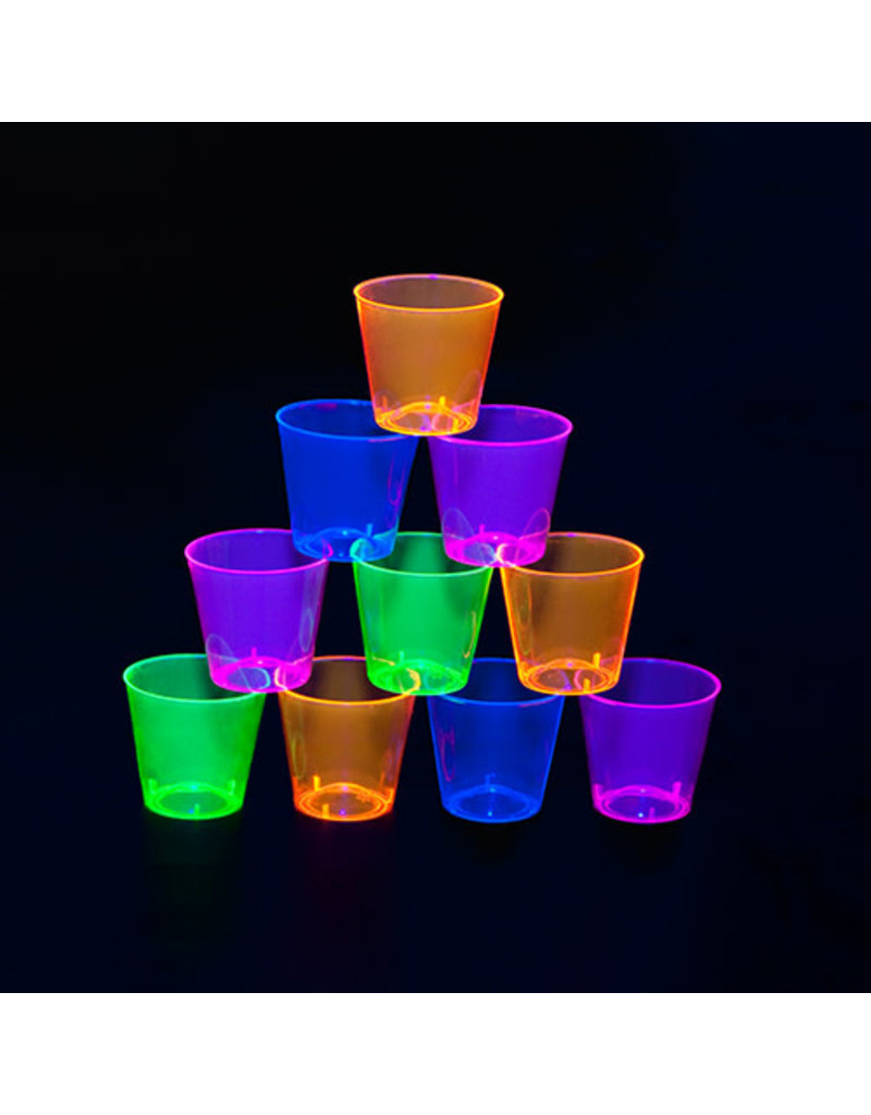 1oz. Shot Glasses: Neon Asst. (50ct.)