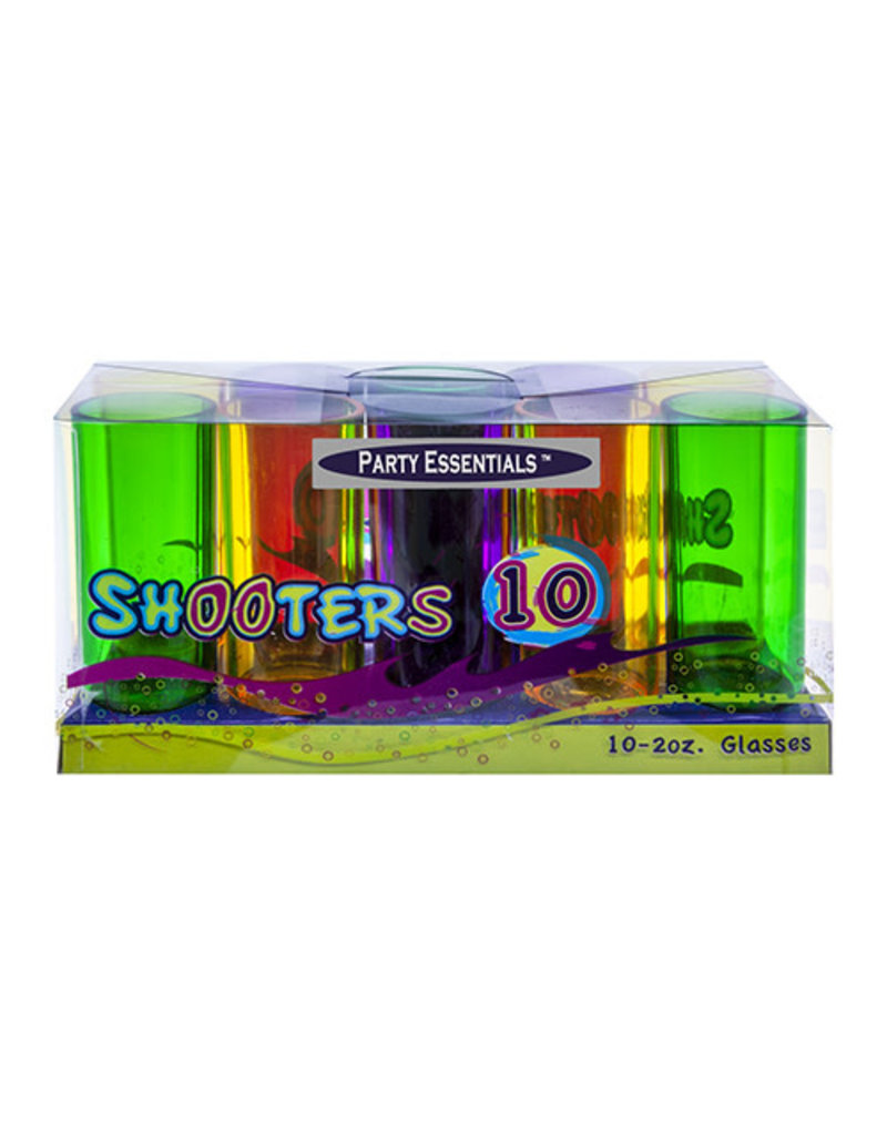 2oz. Shooter Glasses: Mardi Gras (Box Set 10ct.)