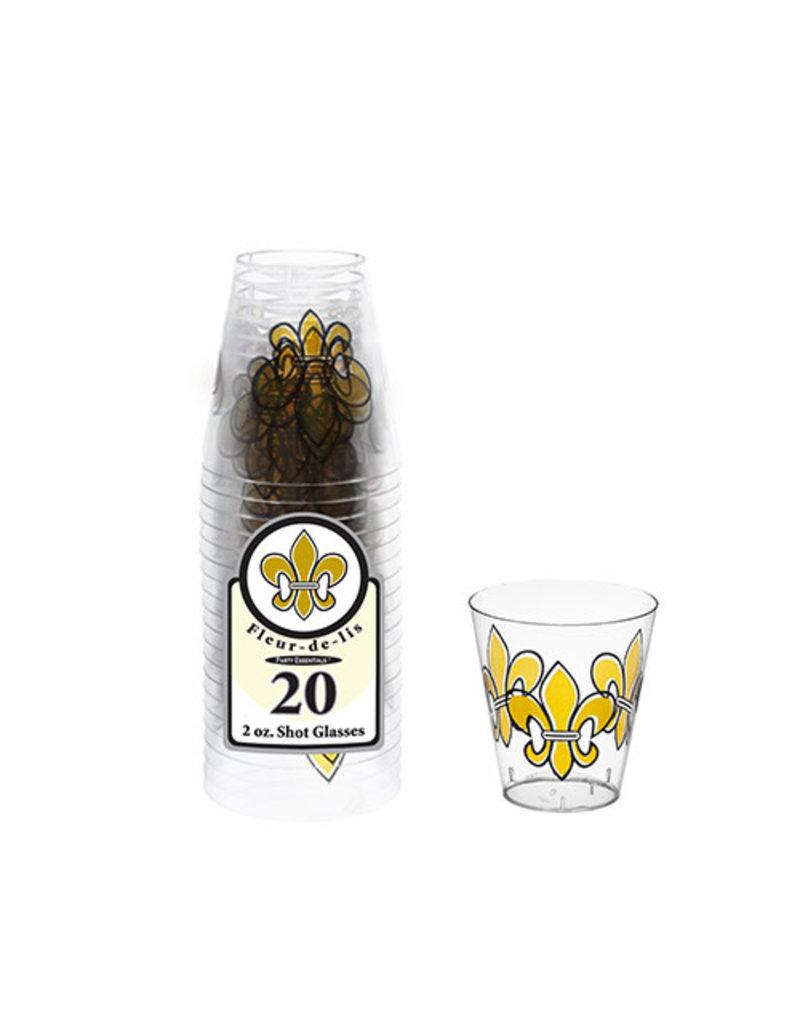 2oz. Mardi Gras Shot Glasses: Fleur Lis (20ct.)