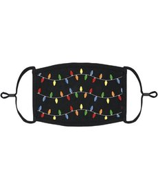 Kids Adjustable Face Mask: Christmas Lights (1 pk.)